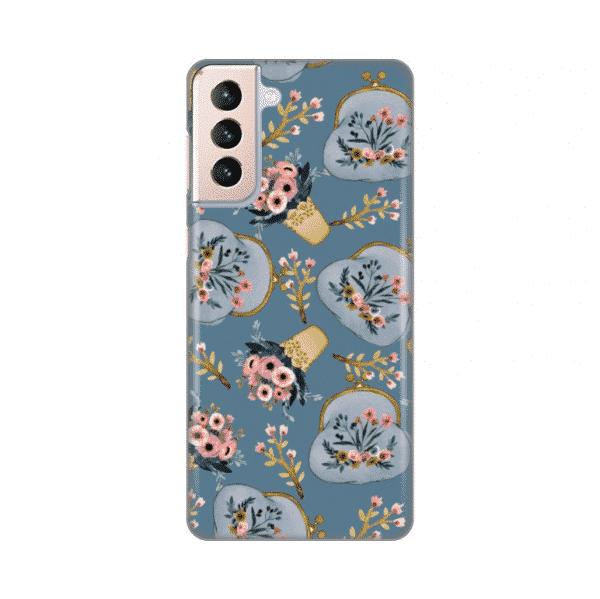 Torbica Silikonska Print za Samsung G996B Galaxy S21 Plus Retro Blue
